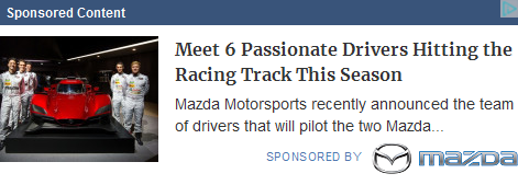 Mazda Motor Corporation campaigns first seen Mar 2018.